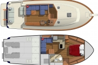 Sabre 38 Plan View