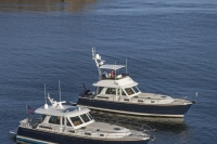 Sabre 48 Flybridge and Salon Express off Portland ME