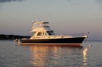 Sabre 54' Flybridge running in Portland, ME.